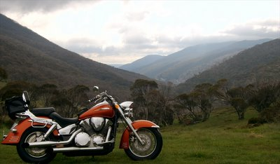 looking dwn the valley to Thredbo