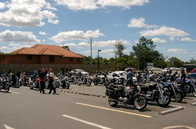 Some of the bikes at the muster point