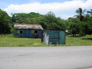 La selva que rodea Higüey, en el extremo oriental de la Hispaniola está repleta de casas de madera y chapa... su precariedad hace que sus habitantes sean los primeros en sufrir las consecuencias de las lluvias tropicales