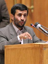 El presidente de Irán, Ahmadineyad,...