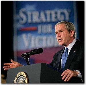 ... y el presidente de Estados Unidos, Bush... tan distintos, pero tan iguales a la vez
