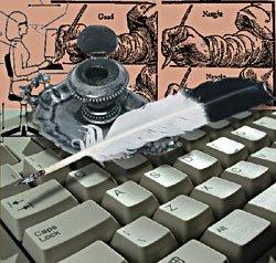 Pluma y teclado, tradición y modernidad para un mismo objetivo: la escritura