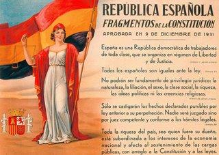 Parece que el ideario de la IIª República era demasiado avanzado para la mentalidad española. En la imagen, un extracto de la Constitución de Diciembre de 1931