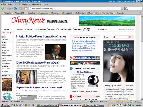 El más célebre ejemplo de periodismo participativo se encuentra en Corea del Sur: el diario OhmyNews