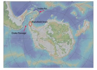Map of Bransfield Strait research area