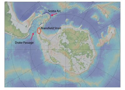 Drake Passage and Bransfield Strait
