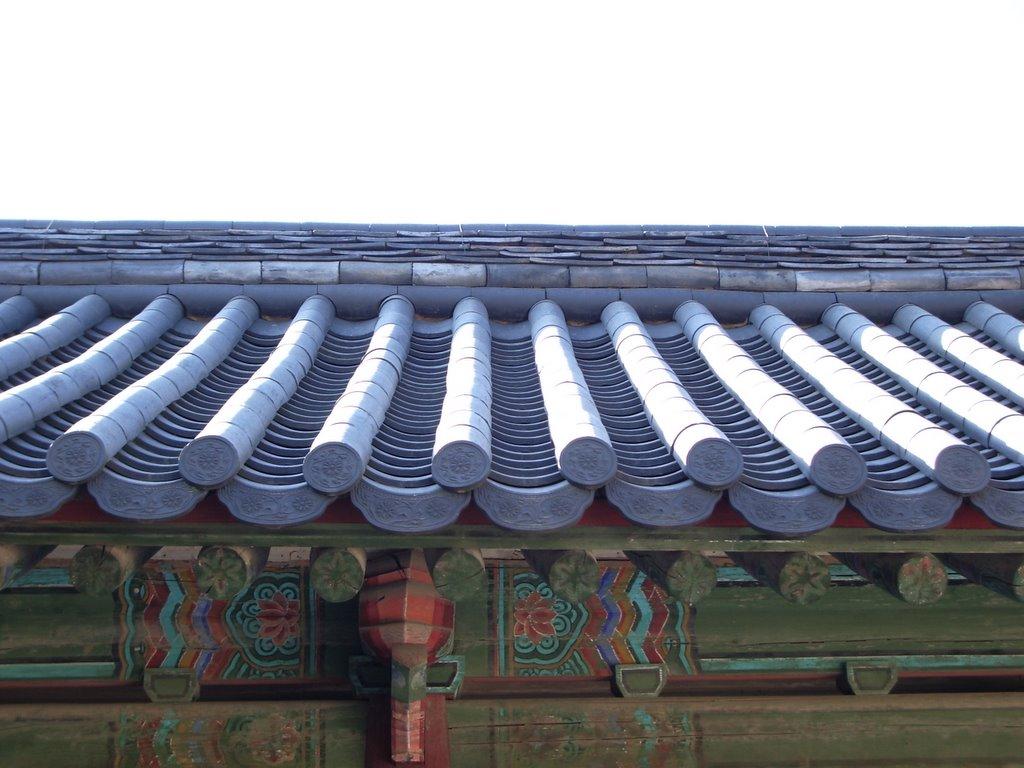 A picture of a hanok roof at Bulguksa, Republic of Korea