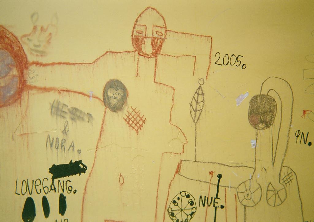 A picture of some graffiti on a wall in Ljubljana, Slovenia