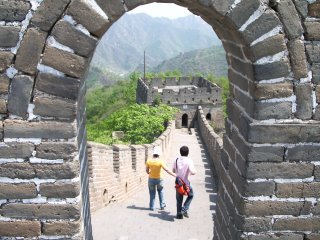 Oh to be young, in love and walking on the Great Wall at Mutianyu in the Springtime.
