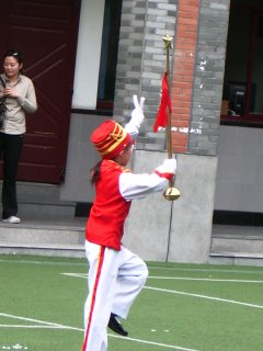 This kid has really got it going on - marching band contest, suburban Shanghai
