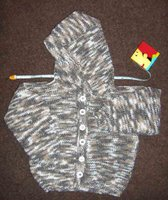 Knitting Olympics cardigan
