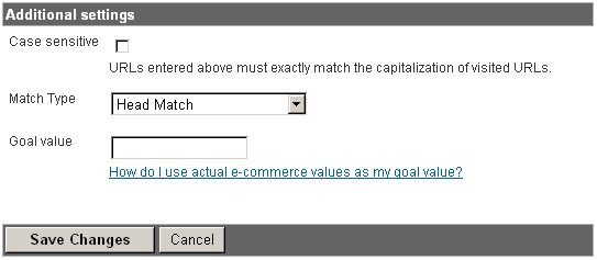 Adsense for Google Analytics setup goal Additional settings