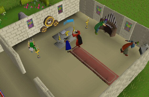 Marble Block Runescape : Player owned houses the gilded altar
