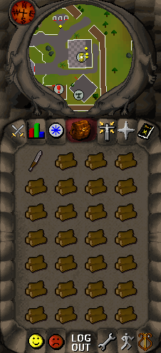 fletching in a bank