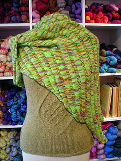 Jane's Clapotis knit with Estelle cashmere yarn