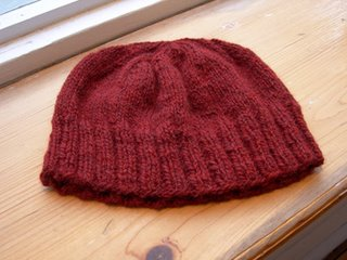 hat knit with khroma yarn