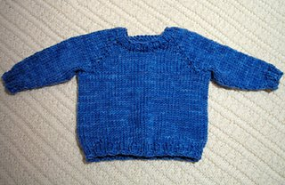 baby pullover knit in Supermerino yarn