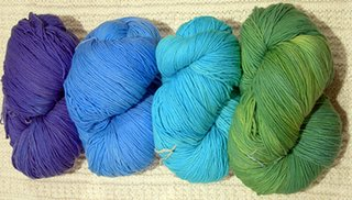 cool colors of whale of a skein yarn