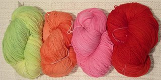 warm colors of whale of a skein yarn