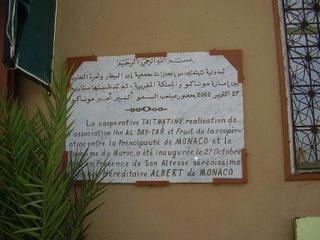 La principaute de Monaco Bailleur de fonds de la Cooperative Taitmatine