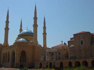 Mosquée Mohamad Al Amine, la Cathédrale St Georges des Maronites et une petite église