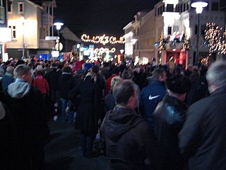 The streets of Reykjavík just before Christmas