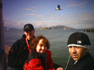 Alcatrez in the background