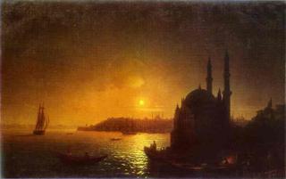Vista de Constantinopla a la luz de la luna de Aivazovsky