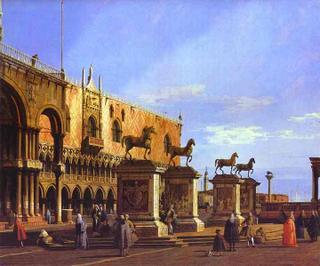 Los caballos en la Piazzeta