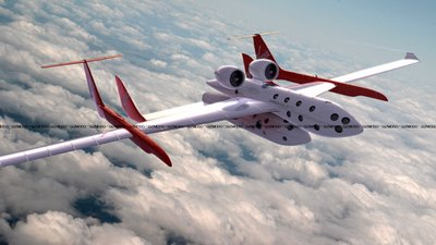 SpaceShipTwo and its mothership, hot!