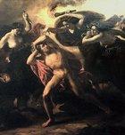 Oreste et les Furies, Carl Rahl, détail