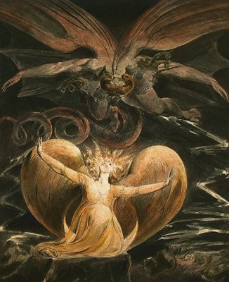 Le Grand Dragon Rouge et la femme vêtue de soleil, William Blake