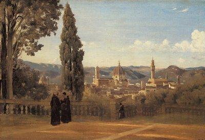 Florence, vue des jardins Boboli, Jean-Baptiste-Camille Corot
