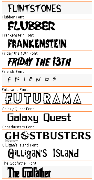 Good movie poster fonts