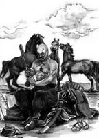 a Ukrainianian Cossack in the times of the Polish - Lithuanian Commonwealth