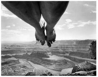 Arno Rafael Minkkinen, Self Portrait at Dead Horse Point, Utah