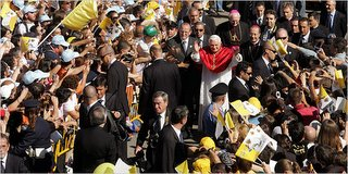 NY Times, Ian Fisher: Pope Benedict XVI Friday at a monastery in Abruzzi, Italy