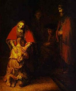 Rembrandt, Return of Prodigal Son, Hermitage Museum, Sankt Petersburg