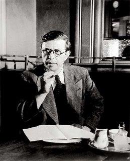 Brassai, Sartre au Cafe de Flore