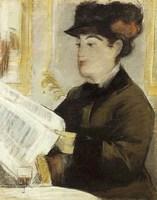 Edouard Manet, Woman Reading at a Café, 1878-9
