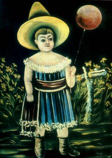 Niko Pirosmani, Little Girl with a Patterned Balloon