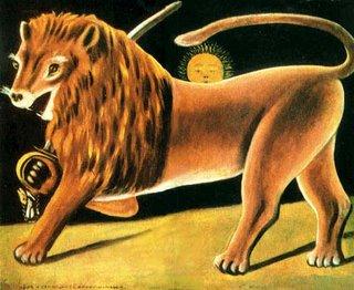 Niko Pirosmani, Lion-Sun