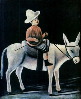 Niko Pirosmani, Little Boy Riding a Donkey