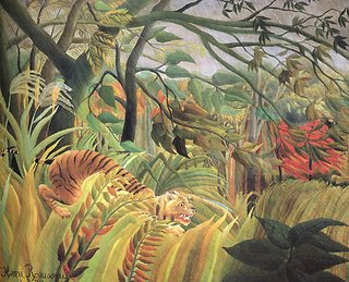 Henri Rousseau le Douanier, Tiger in Surprise