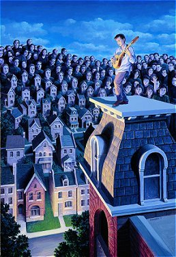Rob Gonsalves, The Performer and the Public