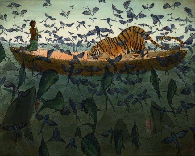the life pi flying fish