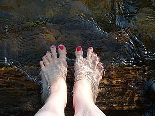 cooling off my feet