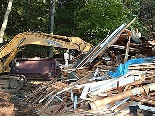 the rubble at the end of Demolition Day 1