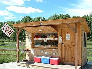 a farmstand with fresh produce