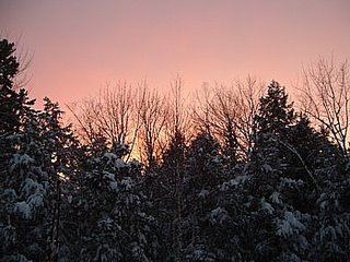 sunset after a very snowy day